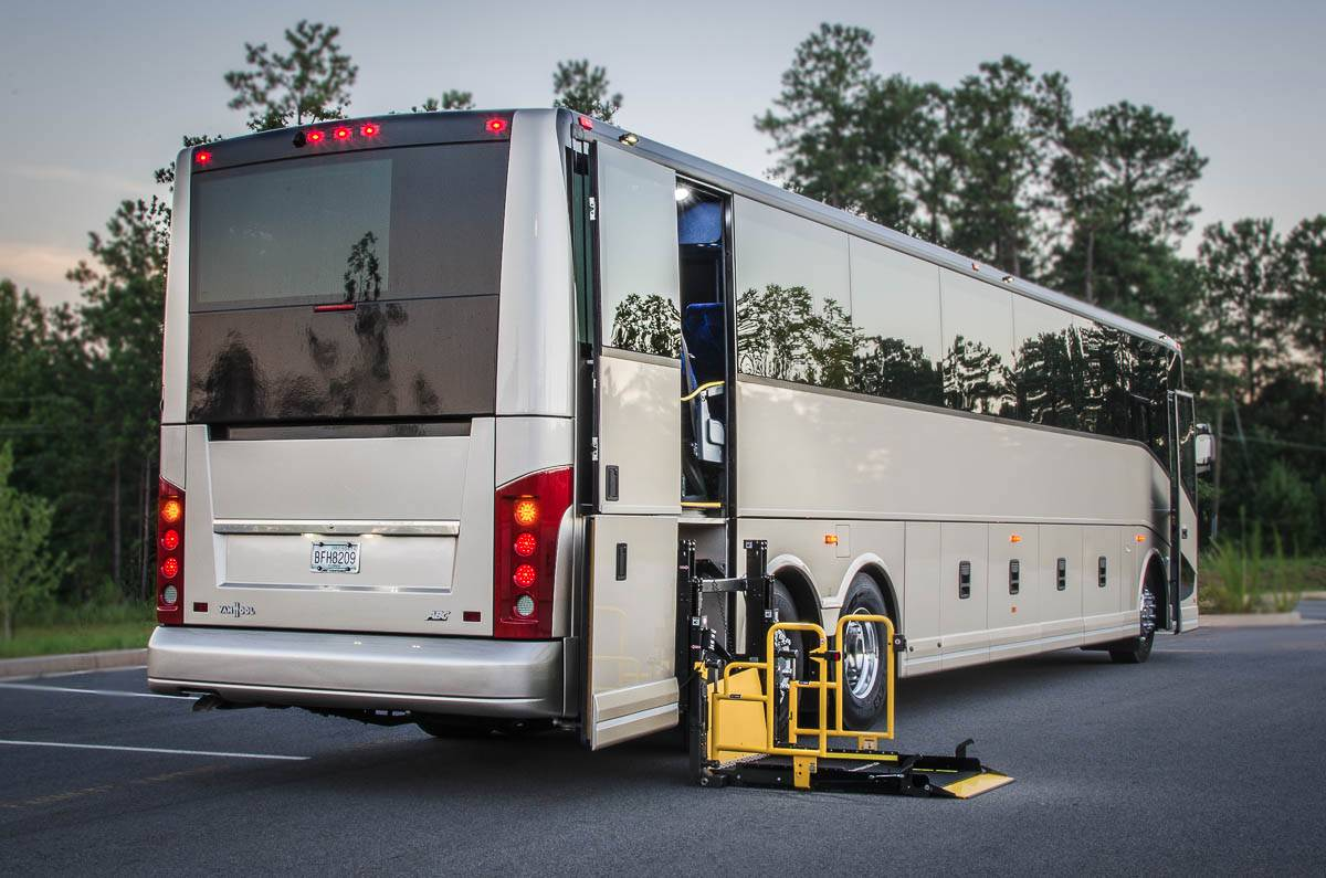 ADA Compliant Coach Bus