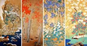 Seasonal flower paintings, Yamatane Museum of Art