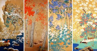 Seasonal flower paintings, Yamatane Museum of Art