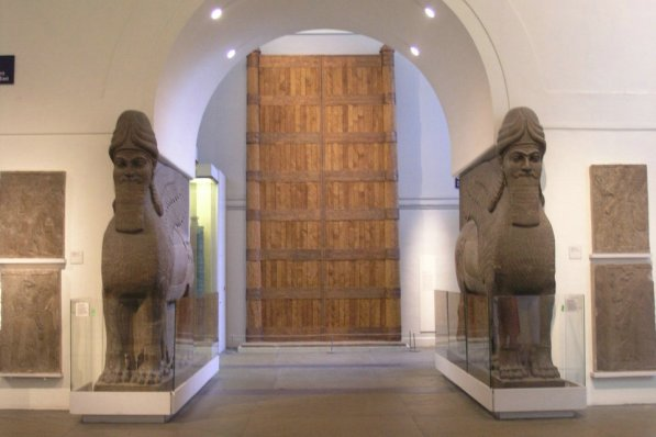 Egyptian sculpture and Assyrian relief, British Museum