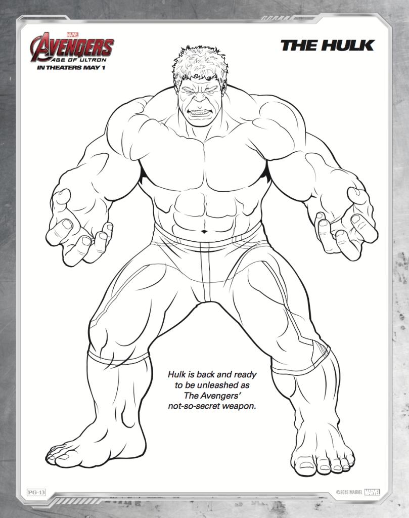 Free printable Avengers: Age of Ultron coloring sheets - Hispana Global