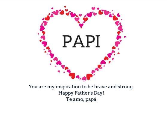 Bilingual Happy Father's Day card via hispanaglobal.net