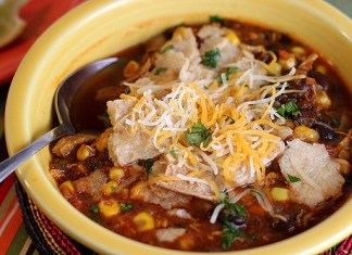 Healthy Chicken Tortilla Soup Recipe