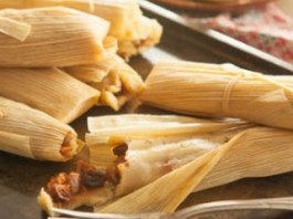 Sweet Raisin Tamales with Pineapple, Coconut & Pecans recipe