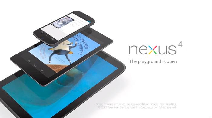 LG Nexus 4 ya es oficial. El Nexus 10 también hace acto de presencia.
