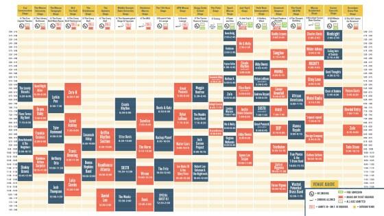 Bragg Jam Schedule 2016