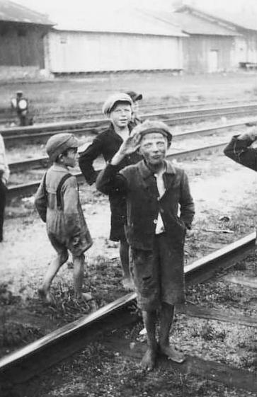 Polish Boys in NAZI Occupied Poland Probably about May 1941