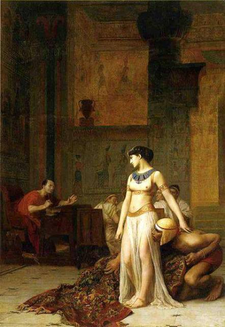 La rencontre de Cléopâtre et Jules César, par Jean-Léon Gérome (1866)
