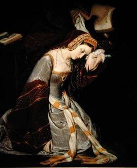 Anne Boleyn à la Tour de Londres, par Edouard Cibot  (1835)