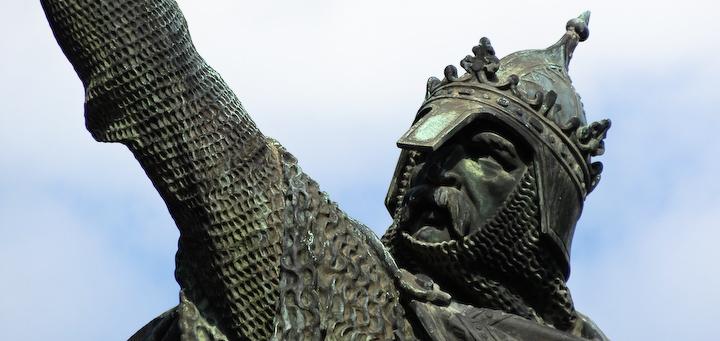 Statue équestre de Guillaume le Conquérant à Falaise par Louis Rochet en 1851