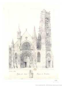 Saint Jacques La Boucherie Dessin Garnerey 1784 l