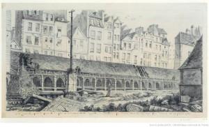 Vue sur le cimetière des innocents 21 fevrier 1786 Charles-Louis Bernier