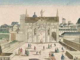 Porte Saint Antoine en 1749 - crédit image BNF