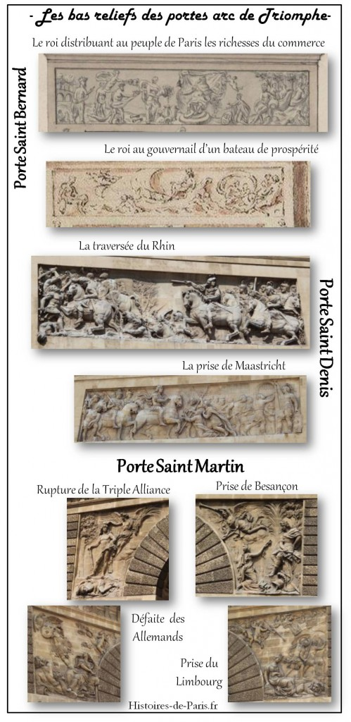 Bas relief des portes arc de triomphe