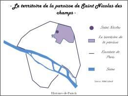 Territoire de la paroisse de Saint Nicolas des champs