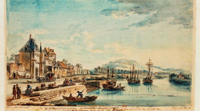 vue des bateaux de la porte Saint Maclou
