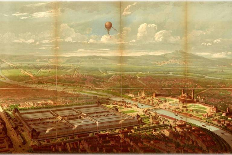 vue panoramique de l'exposition universelle de 1878