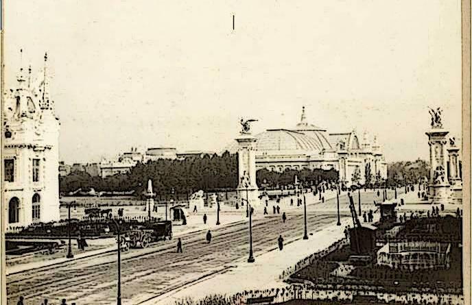 vue du grand Palais pour l'exposition universelle de 1900