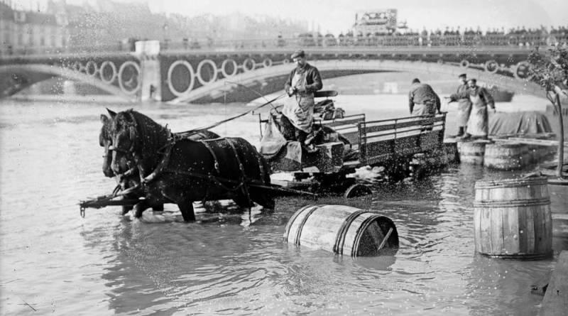 crue de la Seine de 1910 Pont des Saints-Pères