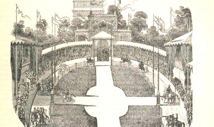 vue intérieure de l'hippodrome de l'Etoile par Edmond Texier