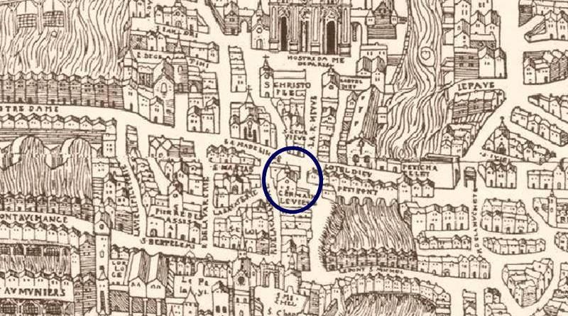 Saint Germain le Vieux en 1552 extrait de Truchet Hoyaux