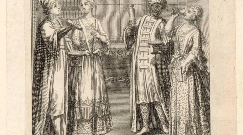 planche pour l'opéra comique de foire les eaux de Merlin par F Poilly