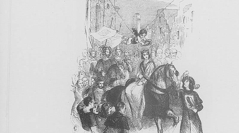 Entrée royale d'Isabeau de Bavière illustration par Honoré Daumier