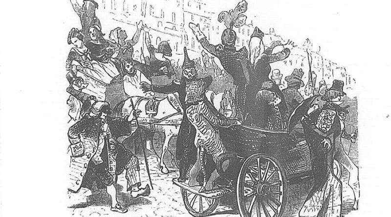 Descente de la Courtille dans illustration des rues de Paris par Louis Lurine