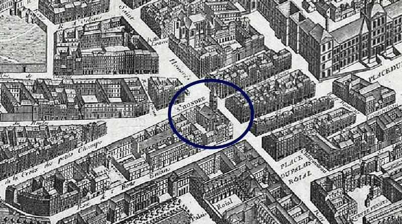 Saint Honoré extrait du plan de Turgot 1739
