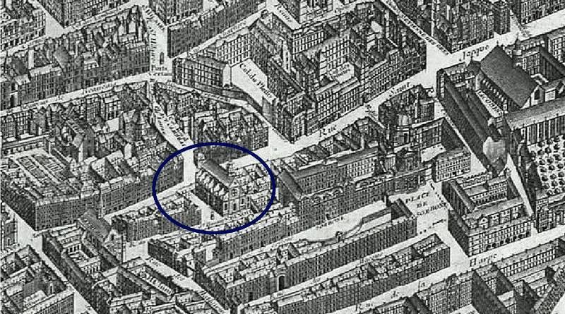 Saint Benoit le Bétourné extrait du plan de Turgot 1739