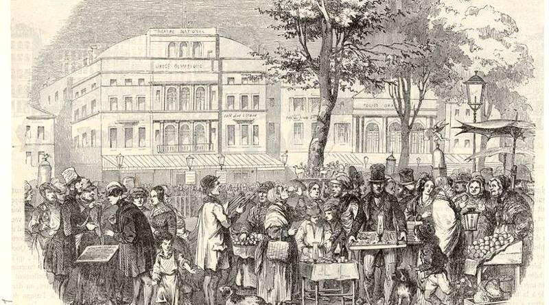 marchands ambulants sur le boulevard du Temple par Nadar extrait de Dessinateurs et humoristes