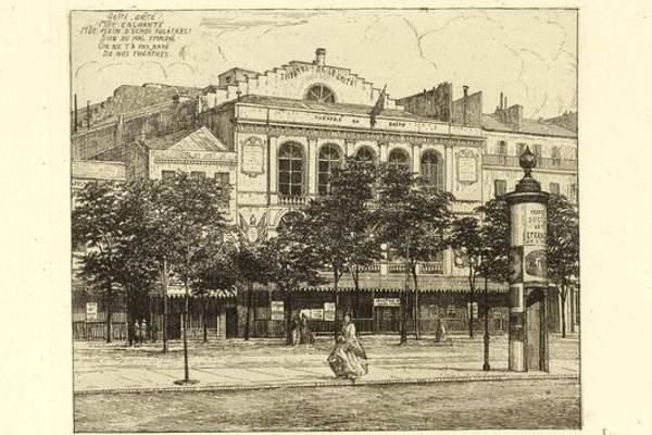 Boulevard du Temple Theatre de la Gaiete en 1862 par M Potémont