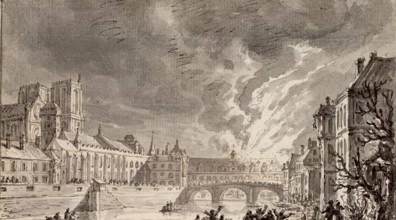 Incendie de l'hôtel Dieu par S Fawkes le 30-12-1772