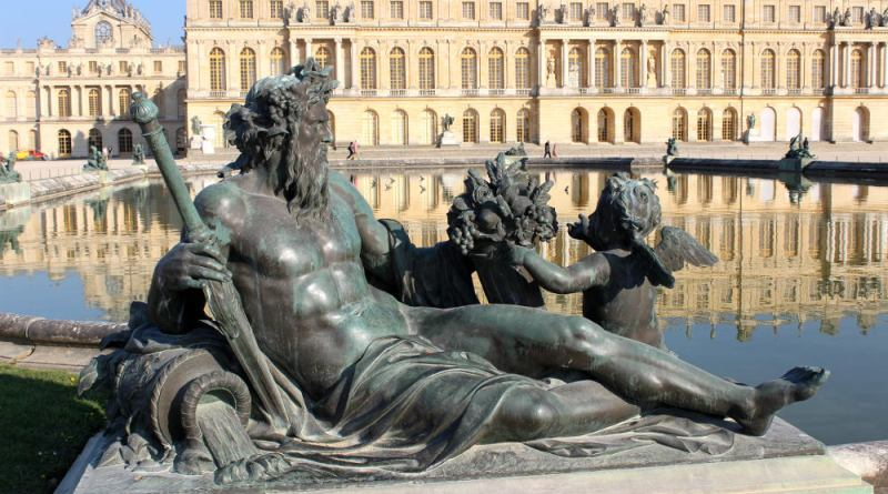 Statues des fleuves à Versailles : la Seine