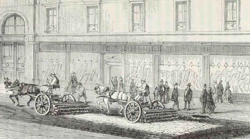 la machine balayeuse issue de Les odeurs de Paris par Jules Brunfaut