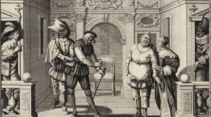 Les comédiens de l'Hôtel de Bourgogne par Abraham Bosse