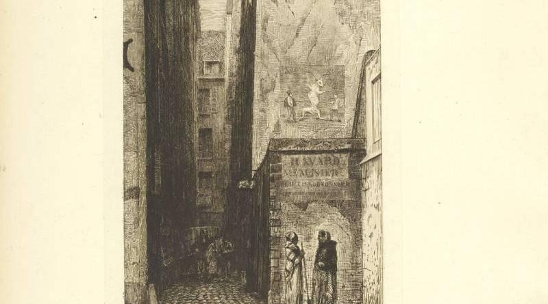Rue aux Fèves en 1850 par Martial Potémont