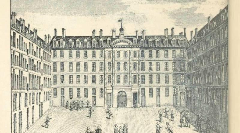 college d'Harcourt au XVIIIe siècle d'après gravure de Martinet