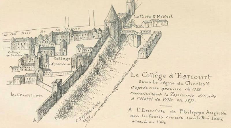college d'Harcourt au XIVe siècle sous le règne de Charles V
