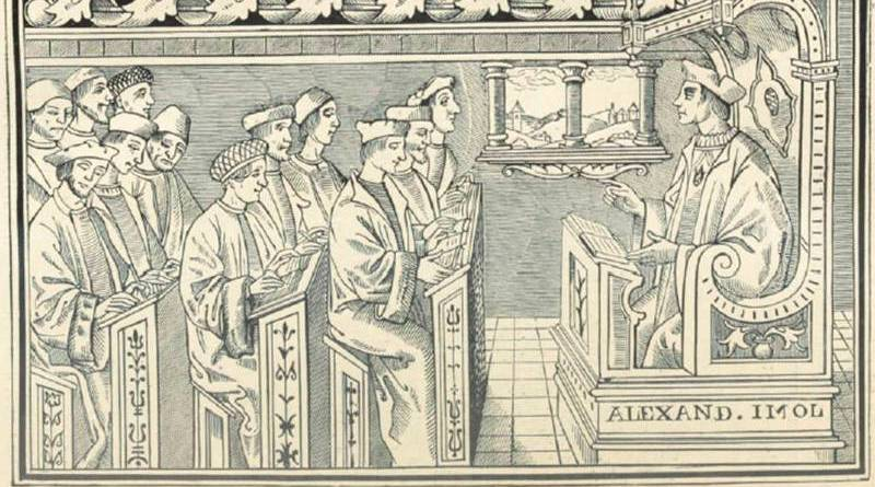 une classe au XVIe siècle