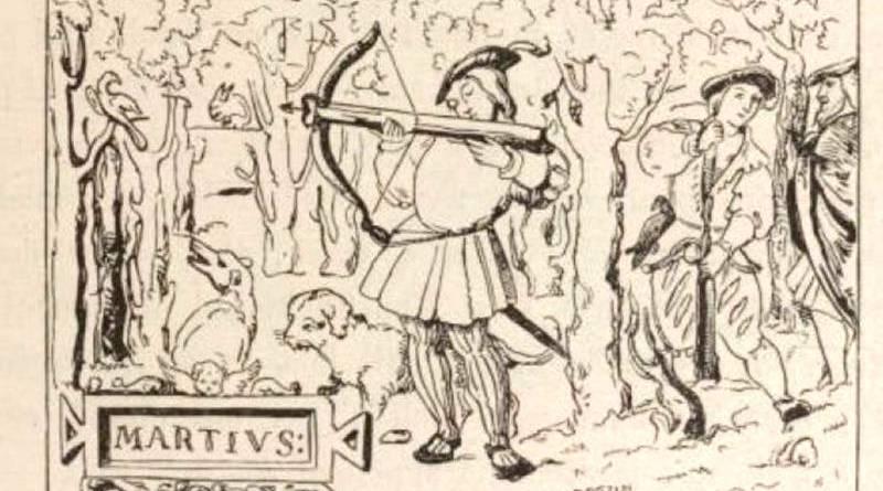 arbalétrier à l'entrainement - miniature d'un antiphonaire de l'église de Mirepoix en 1528