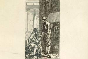 gravure de Dunker pour le tableau de Paris de LS Mercier - Dimanches et fêtes