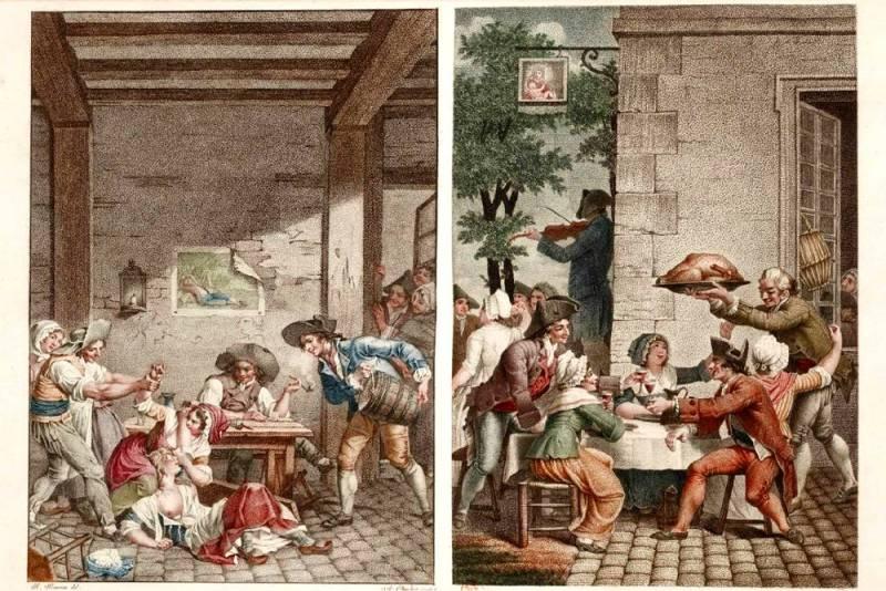 illustration de la pipe cassée de Jean Joseph Vadé