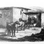 arrivée des chevaux à l'équarrissage de Montfaucon