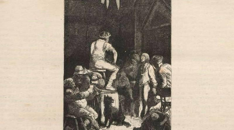 gringoire devant le grand coesre - recit de victor Hugo de la cour des miracles - illustration Yon et perrichon