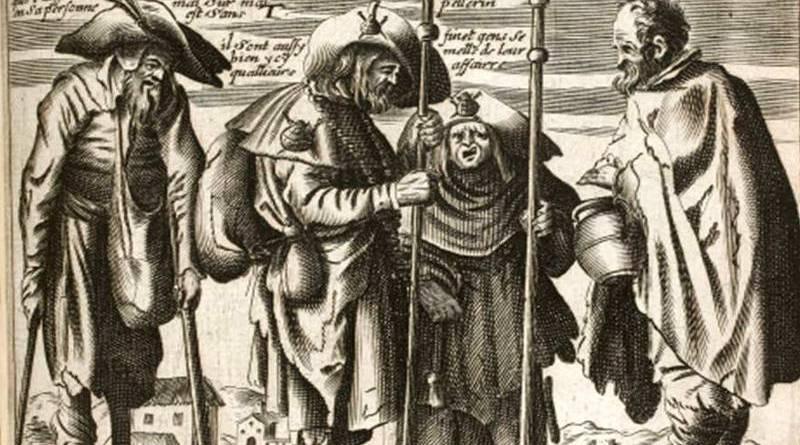 illustration du troisième livre de la vie des gueux par Jacques Lagniet au XVIIe siècle suite