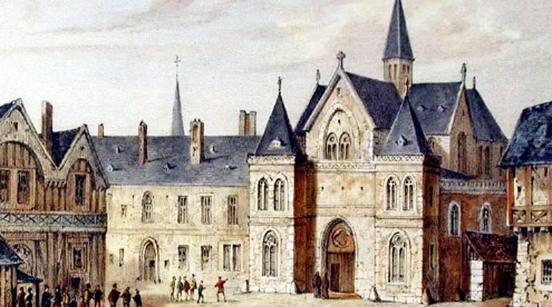 College de la sorbonne en 1550 par Fourmequin, Nousveaux et Pernot