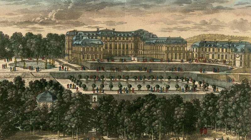Vue et perspective du chateau et du canal de Saint Cloud par Adam Perelle