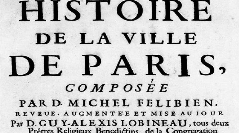 image de l'histoire de la ville de Paris de Félibien et Lobineau