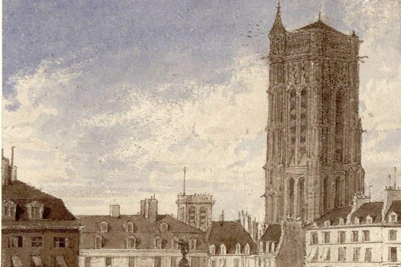 La Tour Saint-Jacques surplombant la place du Châtelet par S Fricsh